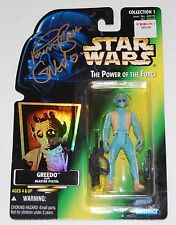 *SIGNED BY GREEDO* STAR WARS CELEBRATION POWER OF THE FORCE W/ COA PAUL BLAKE
