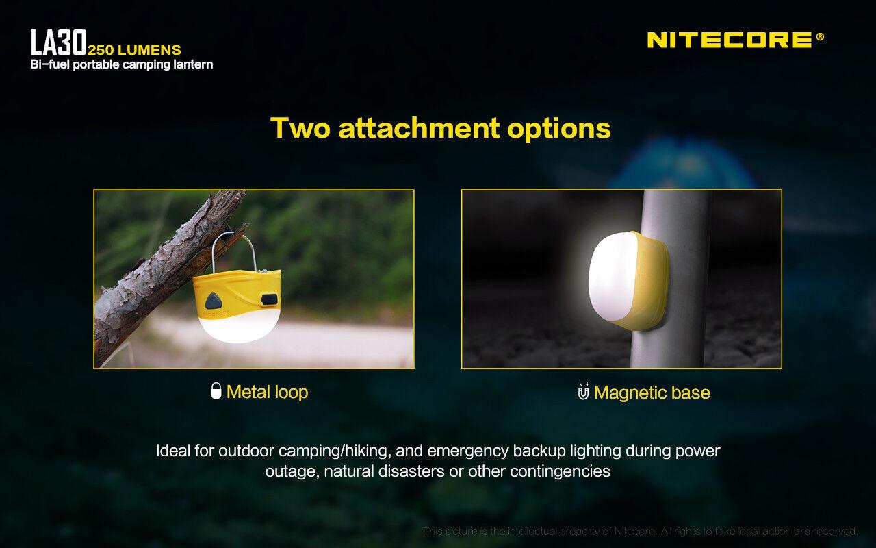 Nitecore LA30 Rechargeable Lantern (Gelb) Multi-Tool/USB w/VCL10 Multi-Tool/USB (Gelb) Car Adapter a4686f