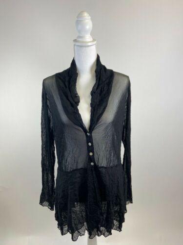 Women's Mesh Button Up Shirt - image 1