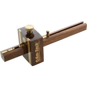 6-034-High-Quality-Mortice-Marking-Gauge-Carpenters-Woodworking-Tool-Brass-Door