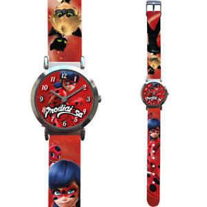 Ladybug-Miraculous-Kinder-Armband-Uhr-Analog-Zeiger-Kinderuhr-Armbanduhr-Rund-Ny