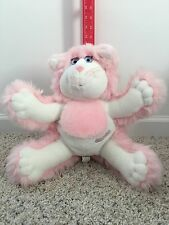 VINTAGE FISHER PRICE PURR-TENDERS 1987 KITTY CAT STUFFED ANIMAL PLUSH Pink White