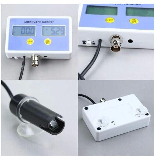 Aquarium Electronic Salinity and Ph value on-line meter and Monitor 2 probe, NIB