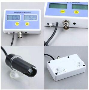 Aquarium-Electronic-Salinity-and-Ph-value-on-line-meter-and-Monitor-2-probe-NIB