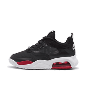 men's jordan air max 200 casual shoes black/gym red/white