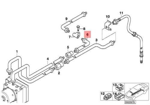 Genuine BMW E38 Z3 Coupe Roadster Saloon Rear ASC Brake Pipe OEM 34326754603