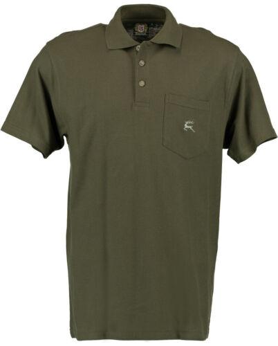 """Os Trachten ® Polo-Shirt con motivo /""""tichón Hirsch/"""" verde oliva caza camisa nuevo"""