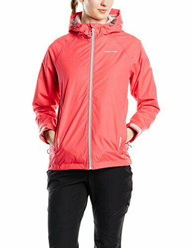 DE 42 Electric Pink Craghoppers Damen Jacke Ruhi Lite Waterproof Jacket