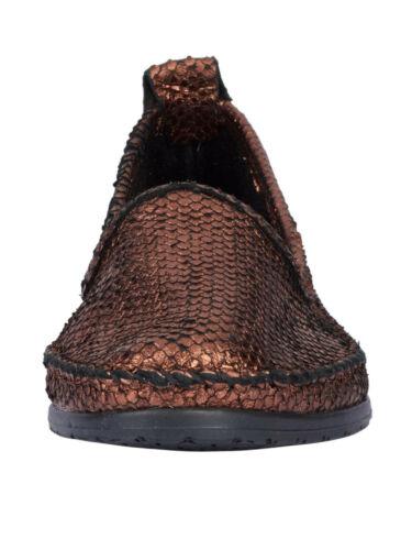 bronzefarben NEU!! KP 69,99 SALE /%/%/% Andrea Conti Slipper im Metalliclook