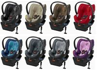 Cybex Aton Q Adjustable Headrest Infant Car Seat & Base W/ Load Leg