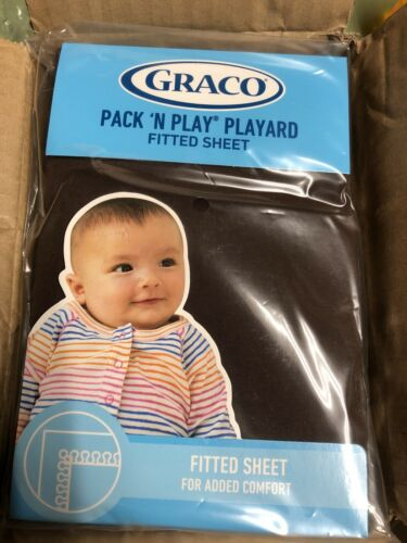 """Graco Pack N Play Playard Fitted Sheet Chocolate Brown Baby 39/"""" X 27/"""" New"""
