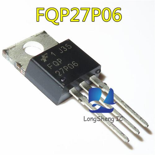 5PCS FQP27P06 Manu:FSC Encapsulation:TO220,60V P-Channel MOSFET new