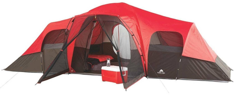 Family Camping Tiendas De Campaña 10 persona grandes Ozark Trail 3 habitación impermeable al aire libre