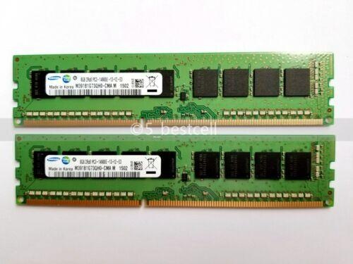 Samsung 16GB 2x 8GB 2Rx8 PC3-14900E DDR3 DIMM ECC 1.5V M391B1G73QH0-CMA 240PIN
