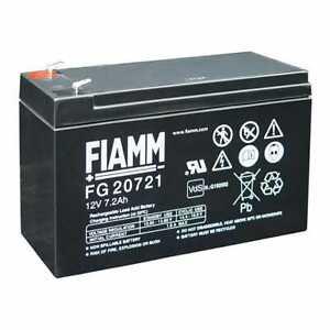 FIAMM FG20721 BATTERIA AL PIOMBO RICARICABILE 12V 7,2AH FASTON ORIGINALE