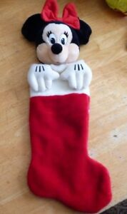 Vintage-Stuffed-Plush-Toy-Minnie-Mouse-Doll-12-Inches-Christmas-Stocking