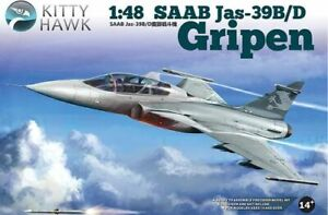 Kitty Hawk 1/48 Saab Jas-39 B / d Gripen # 80118