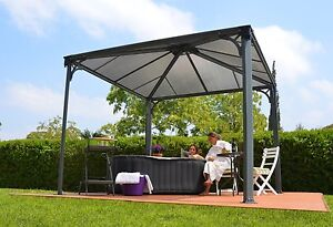 Details about Palram Palermo Garden Gazebo Lay-Z-Spa Hot Tub Awning Canopy  Free Delivery