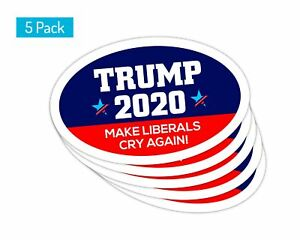 5-Pack-Oval-Car-Magnet-Trump-2020-Trump-Make-Liberals-Cry-Again-TO439