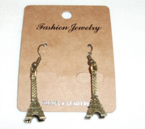 80/'s //Antique Gold Colour Hook Earrings Buy 2 Get 1 Free Classic Retro Icons