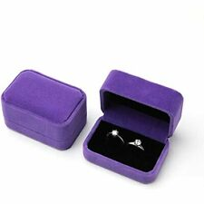 2 Pcs Large Velvet Ring Box Earrings Jewelry Storage Gift Counter Display Home