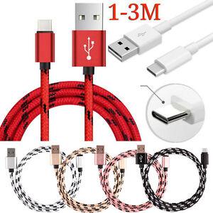 1-3m USB-C USB 3.1 Tipo C Datos & Sincronización Cable Del Cargador PARA