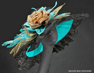 ELEGANT-COUTURE-FASHION-DERBY-WEDDING-HAT-HORSE-RACING-SLEW-039-S-BREW