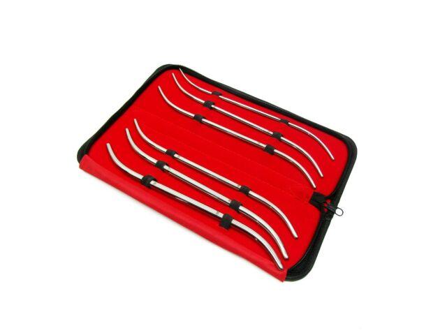 Hank Uterine Dilators Double End Set Of 6 Pcs With Zipper Case Stainless Steel
