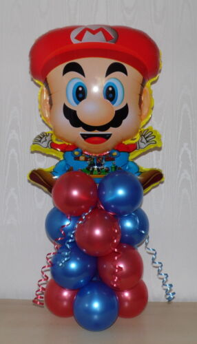 BIRTHDAY SUPER MARIO// MARY SUPERSHAPE TABLE CENTREPIECE BALLOON DISPLAY