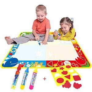Juguetes-para-2-anos-chicas-chicos-agua-magica-Doodle-Mat-Agua-Dibujo-Pintura