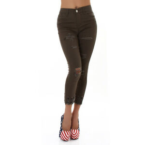 Jeans Denim High Waist Ladies Skinny Jeans 7/8 Jeans Used
