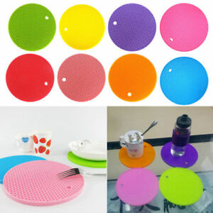 Silicone-Heat-Insulation-Placemat-Mat-Plate-BJ-Coaster-Round-Pad-Cup-Table-Bowl