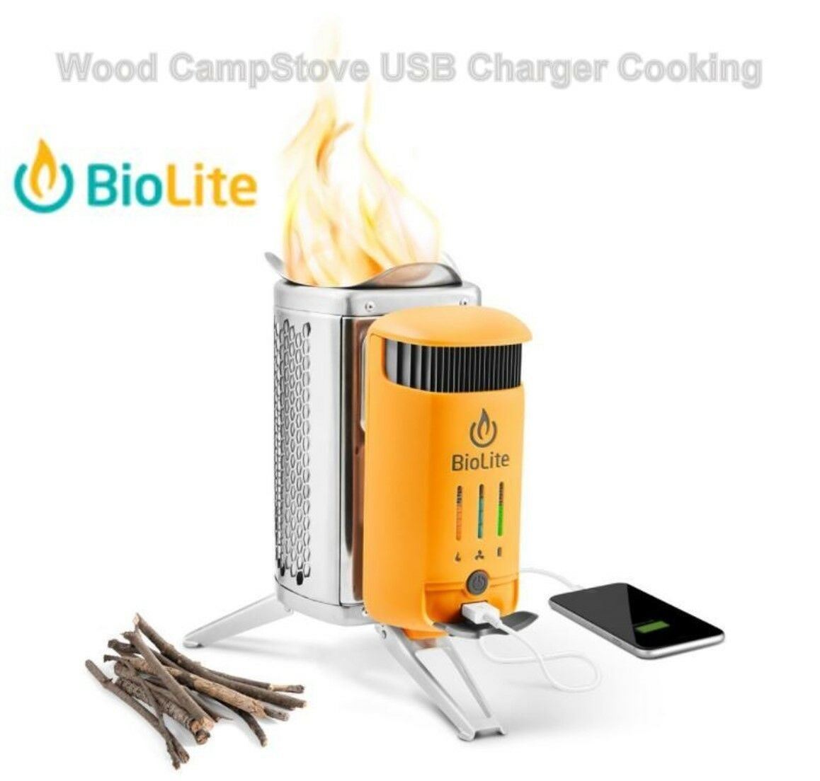 Biolite Stove Outdoor Camping Portable Cooker-Non Butane Gas-Heater burner bbq