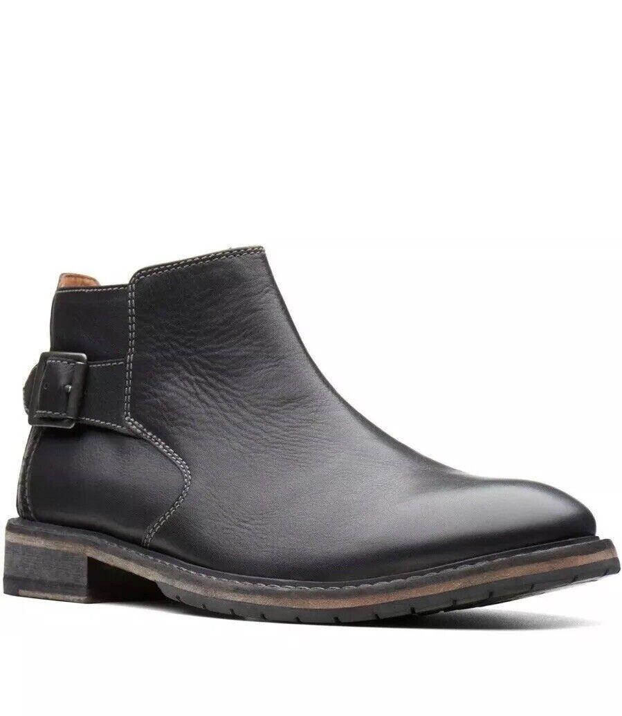 Clarks Men's Clarkdale Remi Black Leather Boots UK Size 11 G