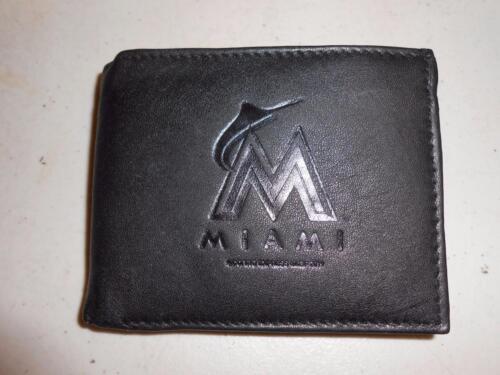 Sport Neu Mlb Miami Marlins Erwachsene Leder Bi-fold Geldbörse 70pq Weitere Ballsportarten