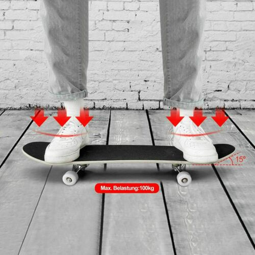 """31/""""X8/"""" Complete Skateboard 9Layer Maple Wood Skateboard Deck Double Kick Concave"""