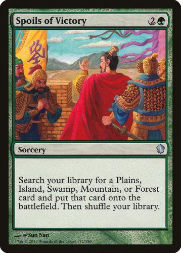 Spoils of Victory Commander 2013 PLD Green Uncommon MAGIC MTG CARD ABUGames