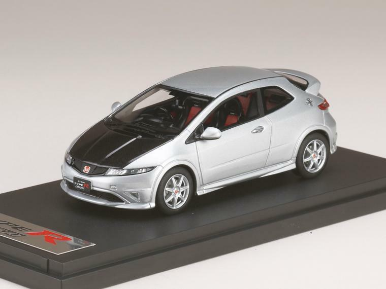 1/43 Mark 43 PM4347CS Honda Civic Tipo R Euro Plata (FN2) (Sombrero de carbono)