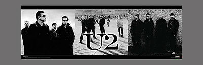 Supergroup U2 (Bono, Edge, Mullen, Clayton) TRIPTYCH Legendary Wall POSTER