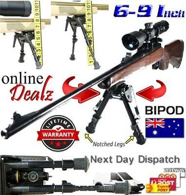 Rifle Bipod 6-9 Inch Height Quick Deploy Shooting Gun Firearm Hunting QD Mount