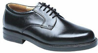 Mens New Black Leather Wider Fit Shoes Size 6 7 8 9 10 11 12 13 14 FREE SHIPPING