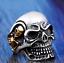 Anello-Teschio-Skull-Uomo-Acciaio-Donna-Argento-Oro-Incisioni-Personalizzate miniatura 2