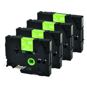 4x Kompatibel zu Brother Klebeband 12mm TZMQG35 TZe-MQG35 P-Touch D200 H100 1290