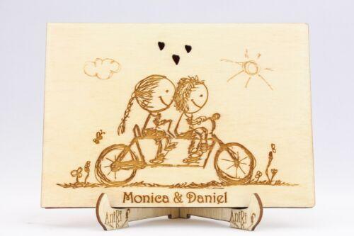 Hochzeit Album Fahrrad Individualisiert Fotoalbum Holz Fotos Bilder Album