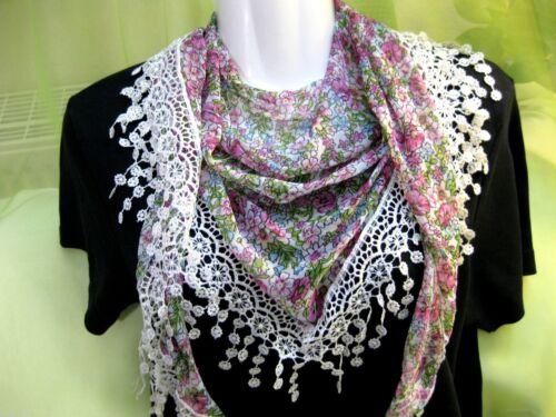 T17 Dreieckstuch,Schal,Halstuch,Sommer-Tuch,Frühling grün oder pink