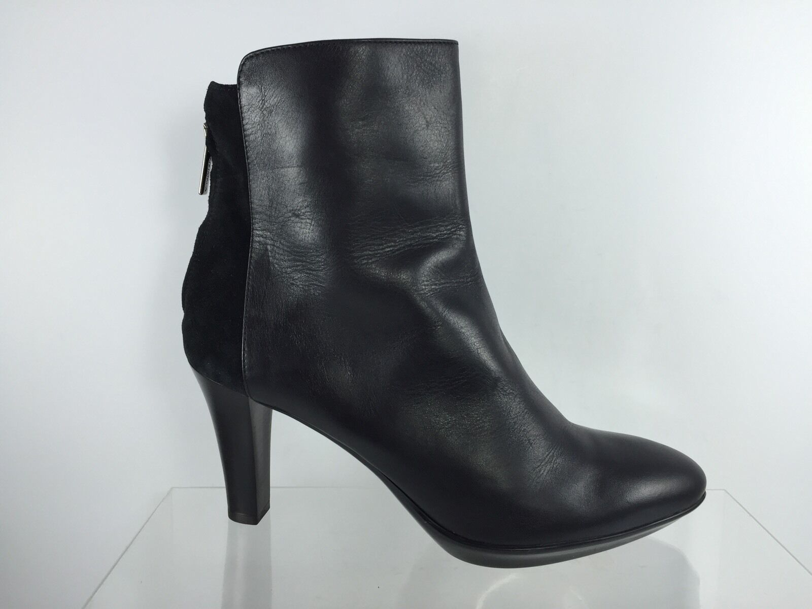 Aquatalia Womens Black Leather Ankle Boots 10