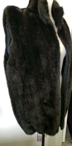 Duffel Outdoor Faux Fur Vest, Black, Small