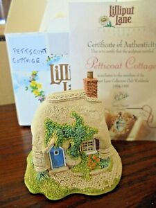 LILLIPUT-LANE-672-PETTICOAT-COTTAGE-NEW-FOREST-HAMPSHIRE-WITH-BOX-amp-CERT