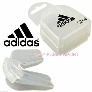 ADIDAS Doppel Zahnschutz Mundschutz mit Box Double weiß Sport Zahnschiene Dose