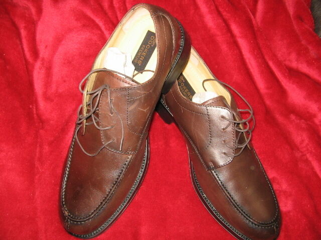 DOCKERS PREMIUM SIZE 12 W, BROWN LEATHER OXFORDS, NEW IN BOX,